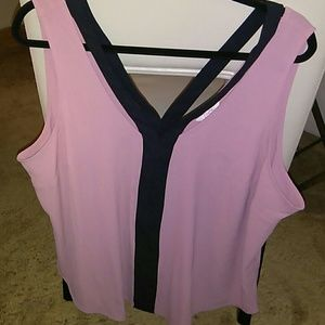 Candie's Plus Pink and Black Tank Top